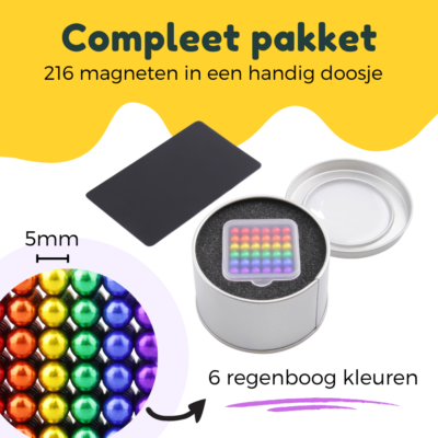 neocube 216 stuks bucky balls bol.com amazon magnetische balletjes speelgoed fidget toys 216 stuks 5mm magneetballetjes magneetbolletjes