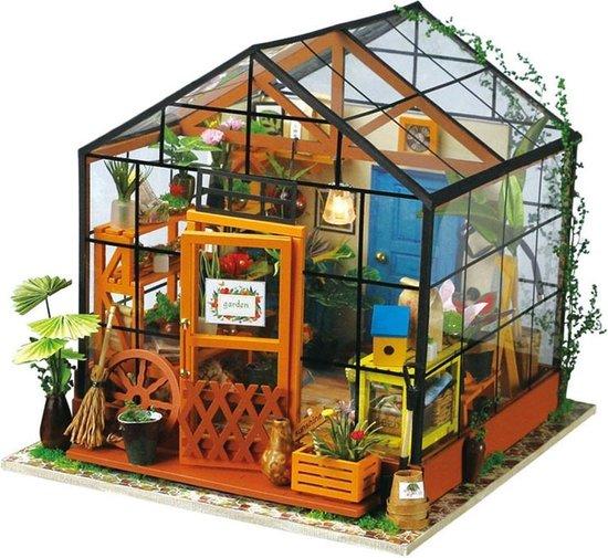 robotime bouwpakket diy modelbouwpakket modelbouw cathy's flowerhouse tuin kas