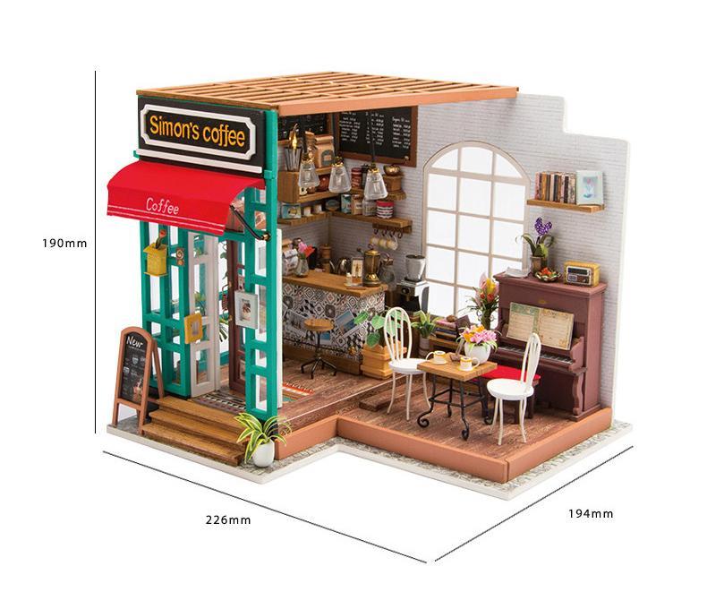 robotime bouwpakket diy modelbouwpakket modelbouw simon's coffee koffie huis